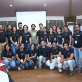 Thinqloud Team with Kiran Manayala from Salesforce - Women Tech Heores by Thinqloud