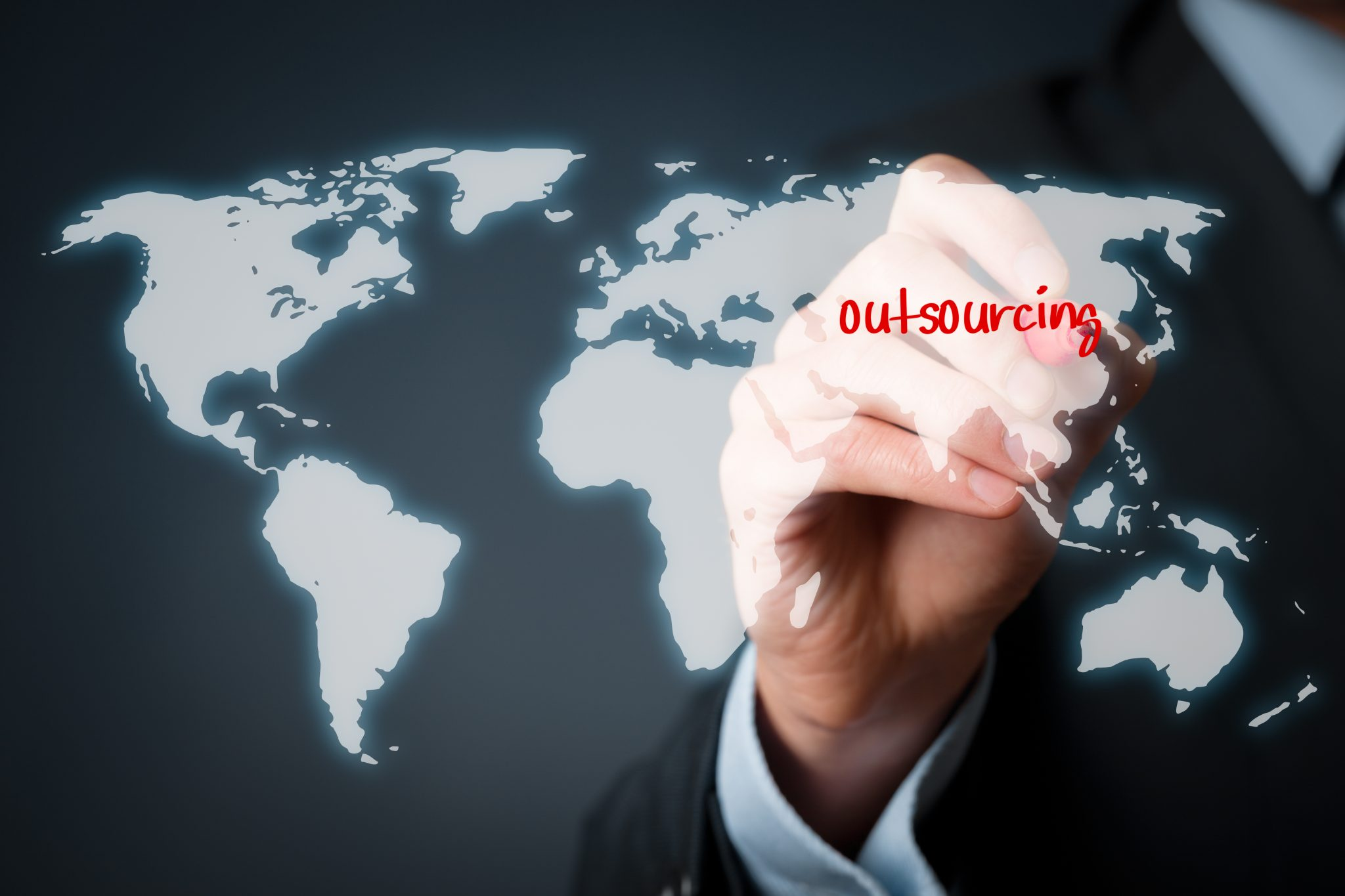 Outsourcing to India Map